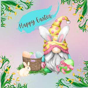 Happy Easter Gnome Sign or Door Hanger