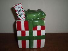 Susan Winget Christmas Present Dip Bowl and Spreader--Macy's Exclusive--NIB