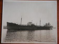 Rare Orig. Vtg 40s Esso Camden Oil Tanker Ship Photograph by Anderson - Markell