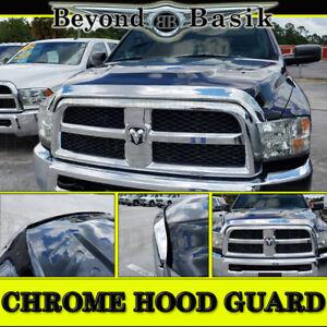 For 2010-2018 Dodge Ram 2500 3500 OE MPR Chrome Bug Shield Deflector Hood Guard