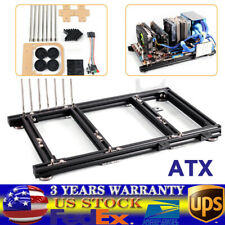 ATX PC Test Bench Open Frame Aluminum Support DIY Motherboard open cooling fan