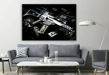 Assault Weapon Gun Firearm Poster Canvas Decor Art Print Room Painting