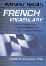 Instant Recall French Vocabulary : Learn and Remember Faster than Ever (CD)