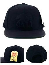 California Replublic New American Needle Cali Black Leather Era Snapback Hat Cap