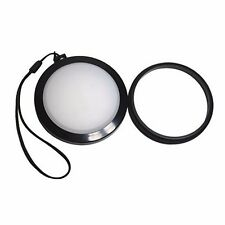 Mennon 43mm White Balance Lens Cap with Filter for Canon Nikon Sony Camera
