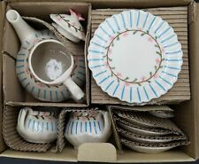 Fitz And Floyd Floral Themed Toulouse Childs 18 Piece Tea Set Open Box