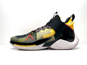 Nike Jordan Why Not Zero.2 SE Black Yellow UK 11.5 EUR 47 US 12.5 AQ3562 002