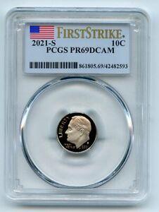 2021 S 10C Clad Roosevelt Dime PCGS PR69DCAM First Strike