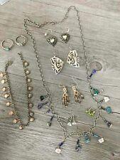 Sterling Silver Lot Fish Earrings Long Necklace