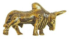 Figurine taureau buffle bronze statuette collection décoration
