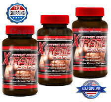 3x Xtreme 2000 Extreme L-Arginine Nitric Oxide Strength Endurance Muscle Builder