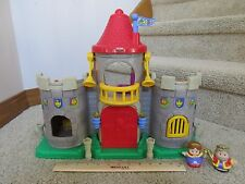 Fisher Price Little People King Queen Castle sounds playset adventure fort red