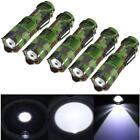 5 piezas Mini CREE Q5 Linterna Lámpara 2000LM 3 Modalidades LED Con zoom Focus