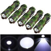 5Pcs Mini Q5 Torch Light Lamp 2000LM 3 Modes LED Zoomable Focus Flashlight