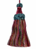 "Tassel Time HOT PINK SHADES TEAL WHITE YELLOW CRIMSON Decorative 6"" Key Tassel"