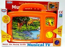 Wind Up Musical TV Telly Baby Toy Kids Classic Toddler Music Television 12m+