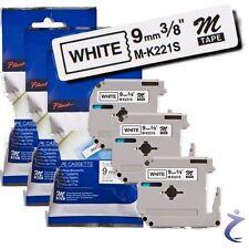 3x BROTHER Beschriftungsband M-K221S für P-touch 80 85 110 55 60 65 75 90 BB4