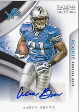 2009 Playoff National Treasures #135 Aaron Brown RC Auto #/99