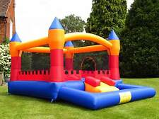 BeBop Turret Ball Pit Kids Large Inflatable Garden Bouncy Castle for Children