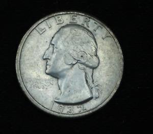 1932-D Washington Quarter 25C Key Date 90% Silver Old US Coin