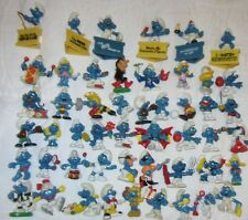 New ListingSmurfs - Lot of 105 Used Smurfs - Rare Green Surprise Bag Smurf - Poor Condition