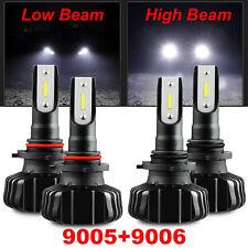9005 HB3 + 9006 HB4 Combo 20000LM 6500K White LED Car Headlamp Kit High Low Beam