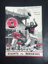 NY Giants 1956 Program Yankee Stadium Redskins Frank Gifford 3 Td news clip