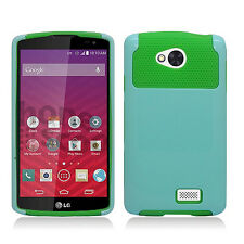 For MetroPCS LG Optimus F60 NEST HYBRID HARD Case Rubber Cover +Screen Protector
