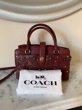 COACH Burgundy Red Mercer Satchel Handbag