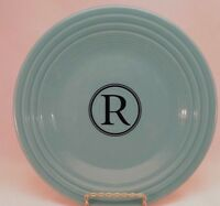 Fiestaware Monogram R Turquoise luncheon plate Fiesta 9 inch lunch plate