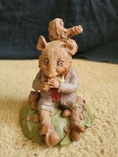 """Vintage 1983 Tom Clark Gnomes Wind In The Willows Rat Sculpture, 5-1/4"""" Tall #45"""