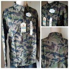 Urban Pipeline Men's Olive Camo Ultimate Patterned Flannel Button Down Shirt XL