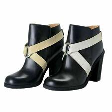 Maison Margiela MM6 Women's Leather High Heel Ankle Boots Shoes US 7 IT 37