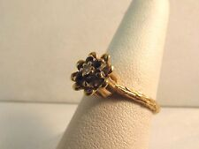 Women's 14K Solid Gold Diamond & Sapphire Ring - Size: 6 - Low Price! - #R159