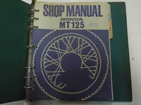 1973 HONDA MT125 MT 125 Service Shop Repair Manual Factory OEM Book With Binder