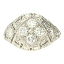 VINTAGE PLATINUM DIAMOND BOMBE CLUSTER RING - 1999