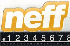NEFF 7.5 in x 3.5 in STICKER Neff Headwear Snowboard Skate Orange/White Decal
