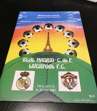 1981 EUROPEAN CUP FINAL PROGRAMME 27.5.1981 REPLICA REAL MADRID LIVERPOOL 27TH