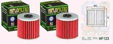 2x HF123 Oil Filter for Kawasaki KZ Z Z200   1977-83, Z250 & KZ250 1980-83,