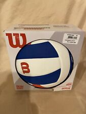 NEW! WILSON Encore Official INDOOR Volleyball blue white red Game Ball