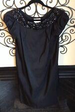 marchesa notte gorgeous black silk size 10 embellished dress
