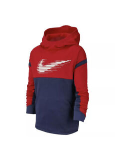 NEW Nike Therma Youth Red & Blue Hoodie Size Large Bin 10