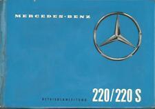 MERCEDES W 111 220 / 220 S Betriebsanleitung 1960 Bedienungsanleitung  BA