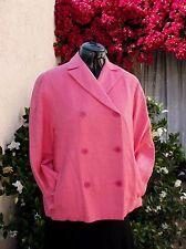 YSL Yves St. Laurent Rive Gauche nubby silk boxy jacket FR40 Italy NWOT