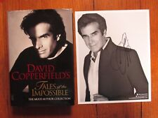 """DAVID COPPERFIELD  Signed 8 X 10 Black & White w/Book  """"TALES OF THE IMPOSSIBLE"""""""