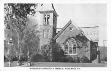 Woolrich Pennsylvania Community Church Street View Antique Postcard K98382