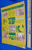 1971 Natural Life Style 1 Organic Gardening Hippie Underground Magazine Book VTG