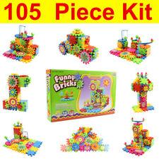 105pcs/Set Children Kids Electric Building Brick Block 3D DIY Funny Puzzles Toys
