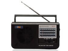 QFX R-3 AM/FM/SW1/SW2 Retro-Styled Handheld 4-Band Radio +LED Power Indicator