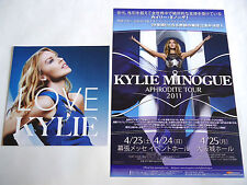 KYLIE MINOGUE Hits CD FLYER & Aphrodite Tour 2011 in Japan FLYER Mini Poster